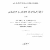 la doctrina de carranza y el acercamiento indolatino.pdf